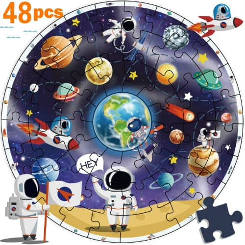 iPlay iLearn Wooden Solar System Jigsaw Puzzles