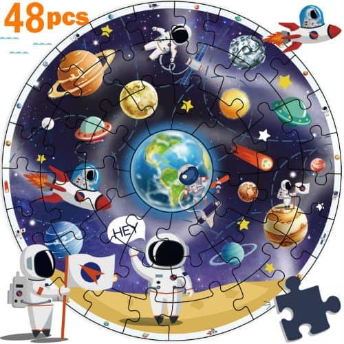 iPlay iLearn Wooden Solar System Jigsaw Puzzles