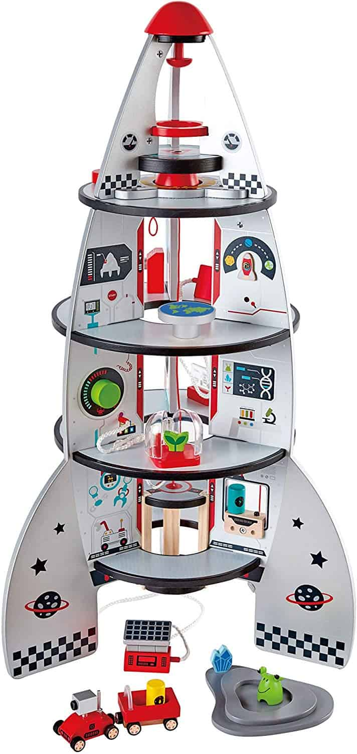 Four Stage Toddler Rocket Ship Playset by Hape