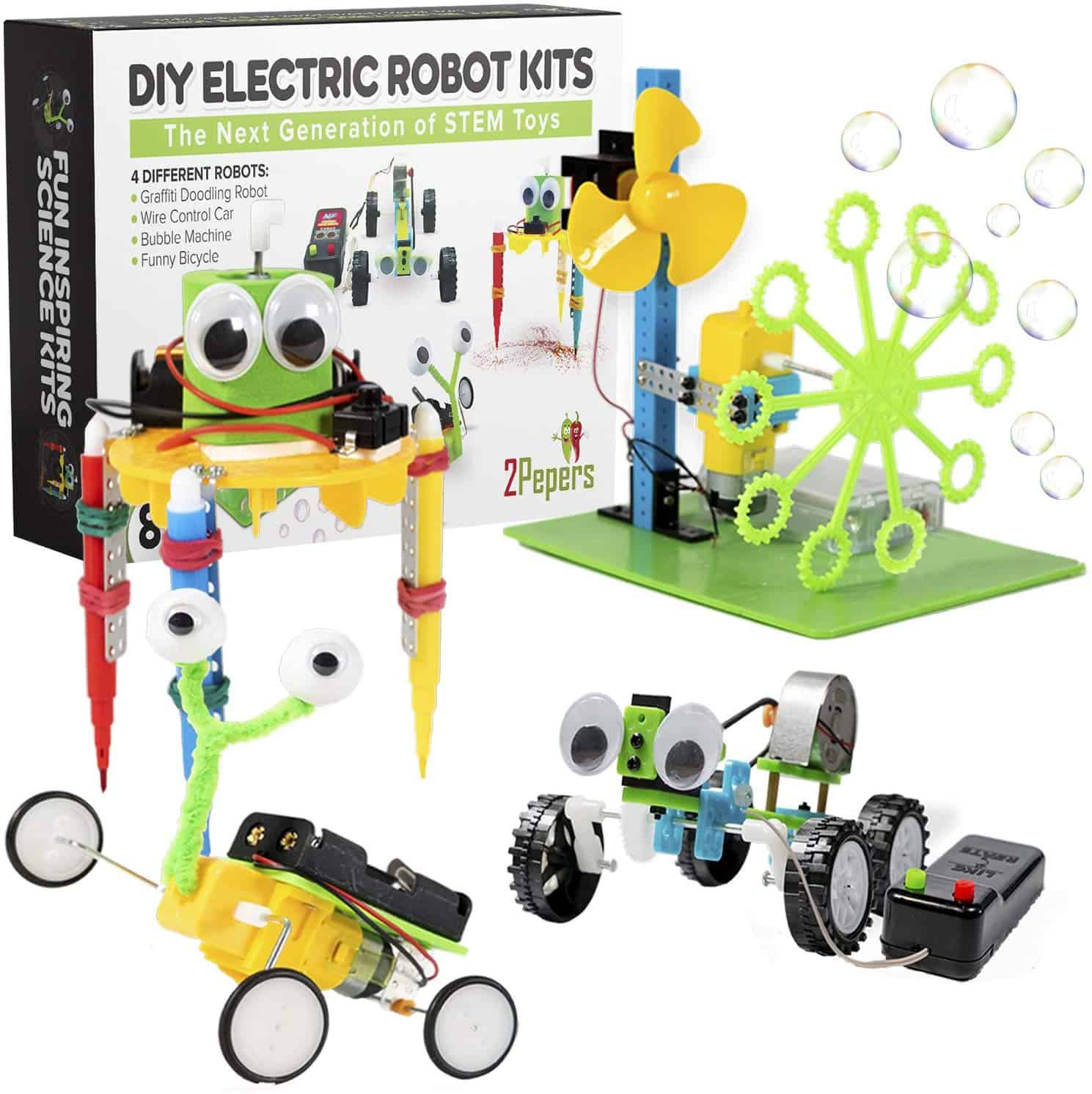 2Pepers Electric Motor Robotic Science Kits for Kids