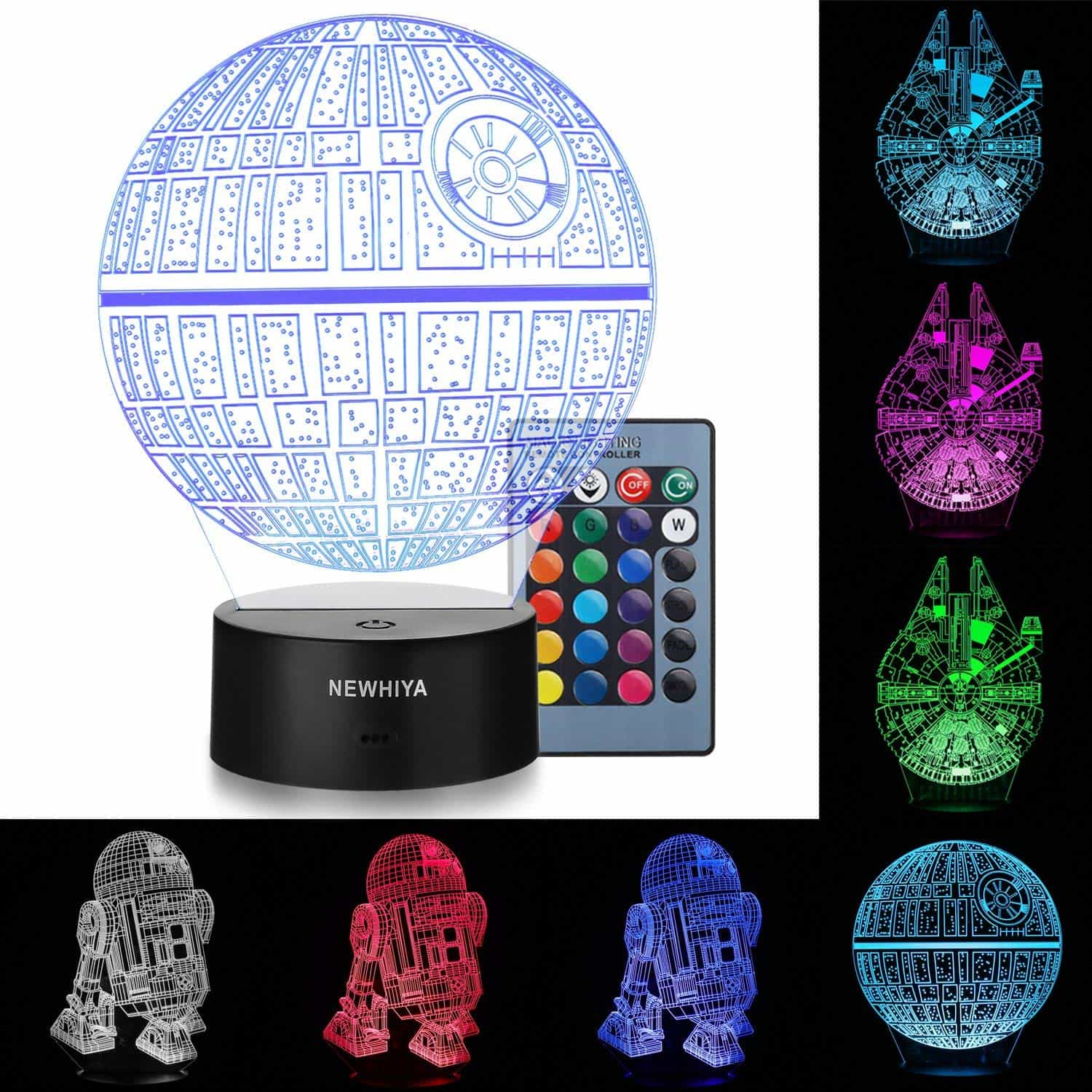 3D Illusion Star Wars Night Light Pattern change