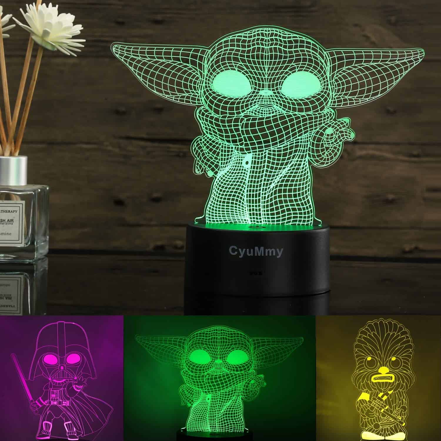 3D Illusion Star Wars Night Light for Kids- CyuMmy