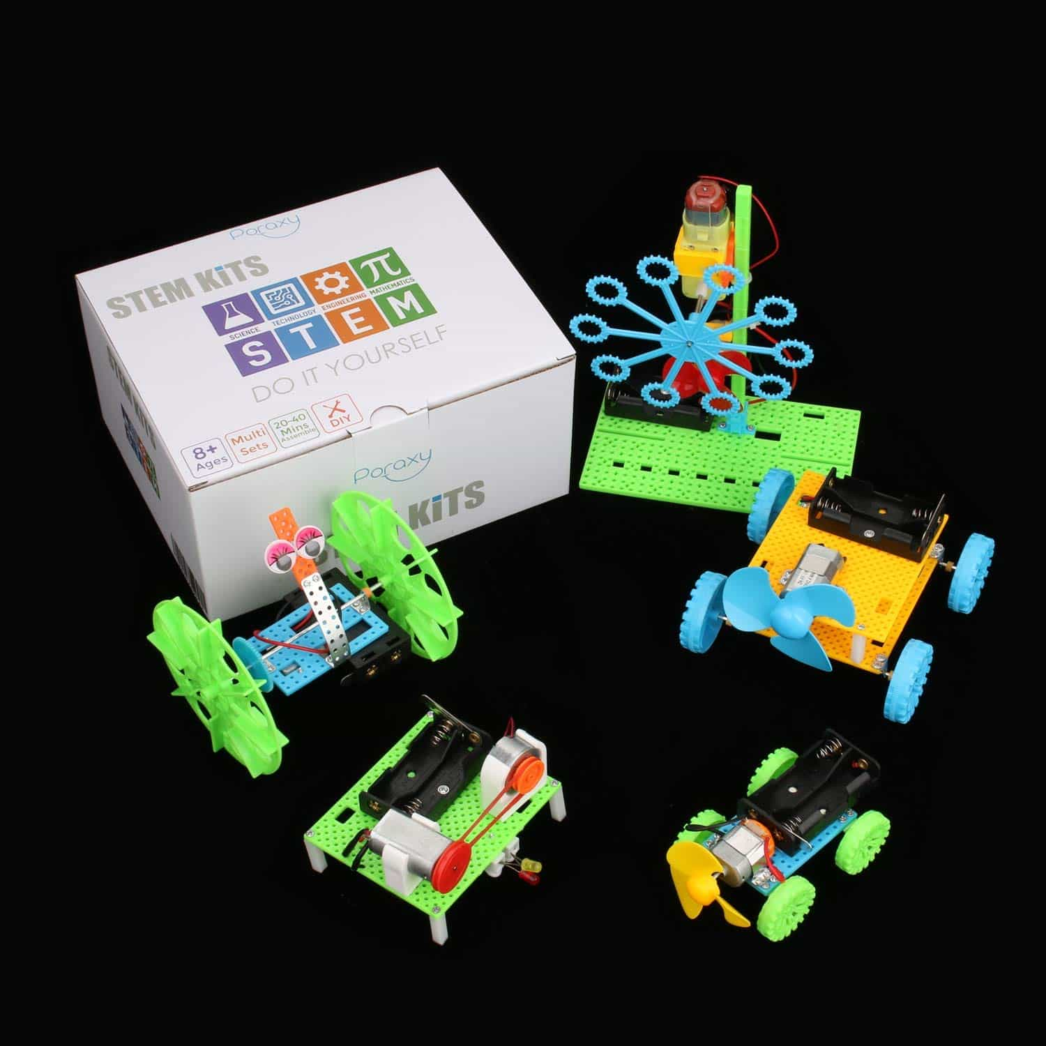 DC Motors Electronic Assembly Kit for Kids