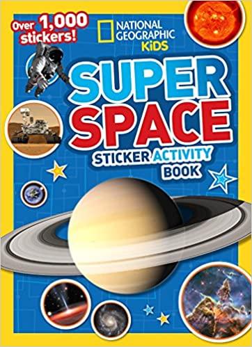 Kids Super Space Sticker Activity Book