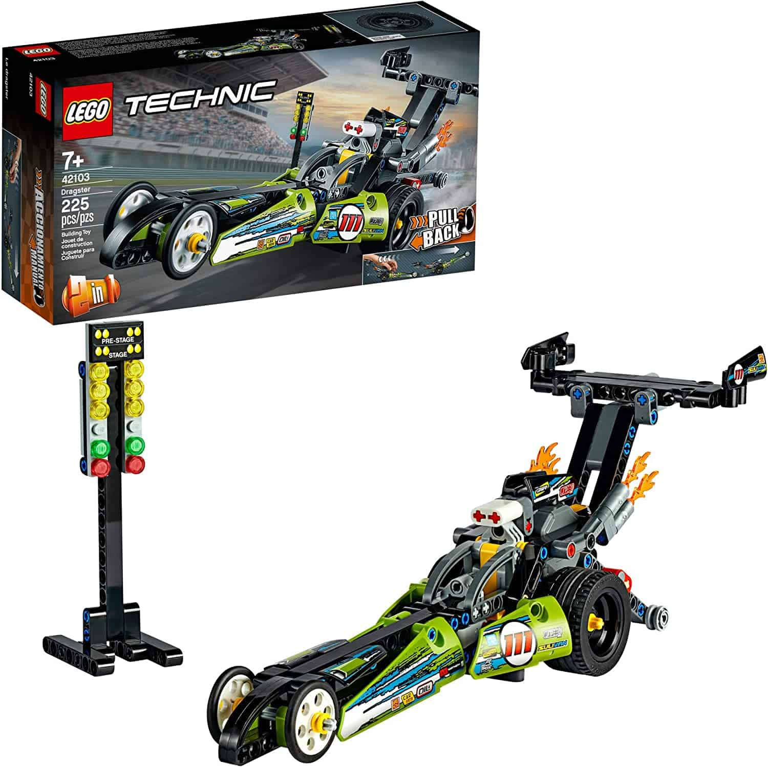 LEGO Technic Dragster Pull-Back Racing Building Kit