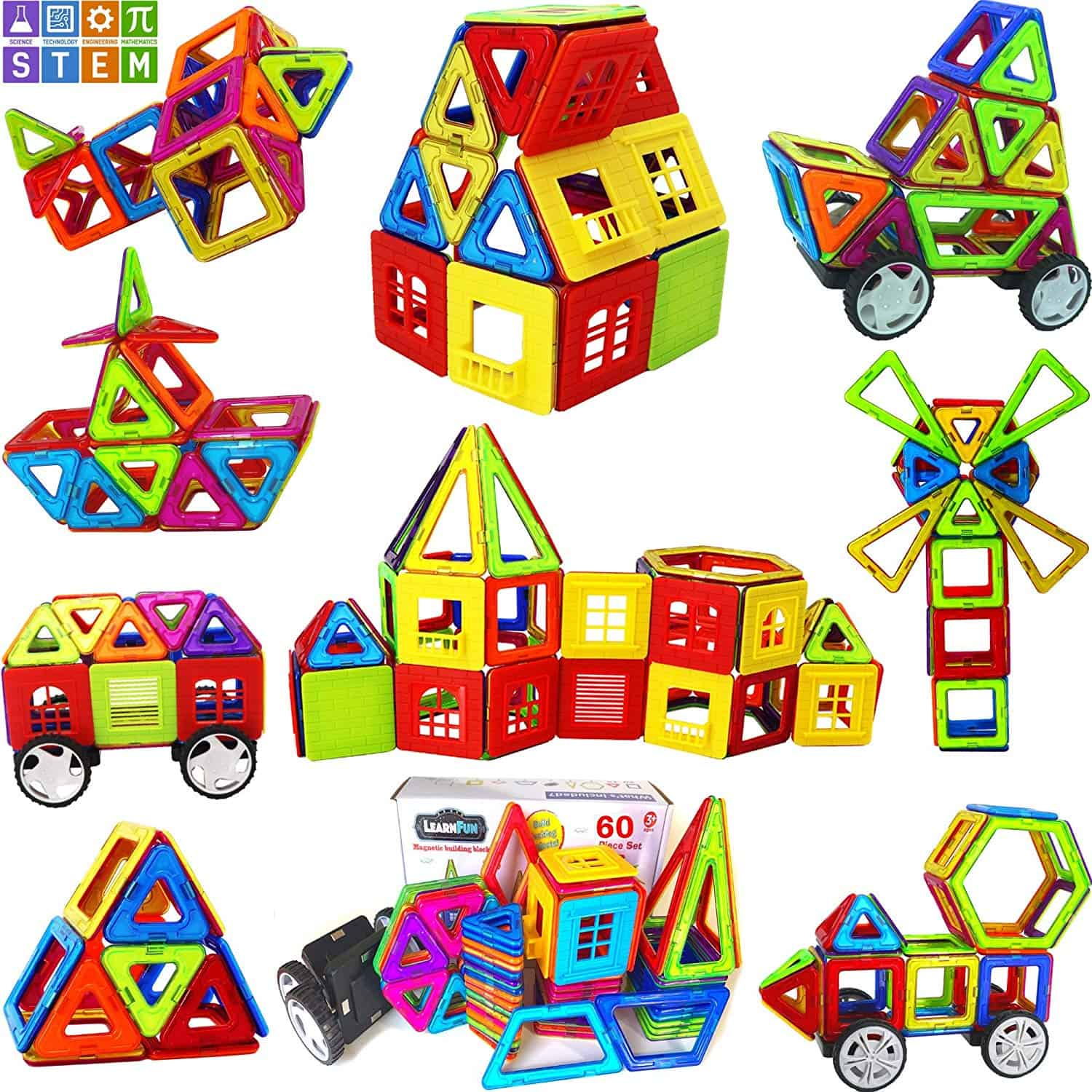 LearnFun Strong Magnetic Building Block Set