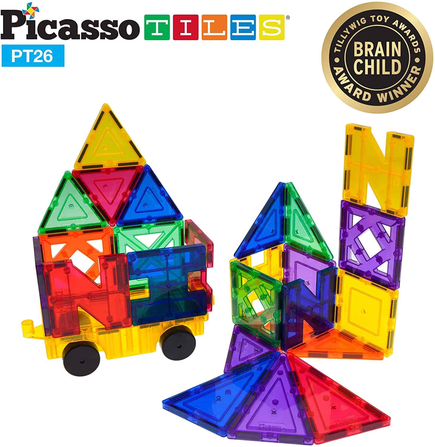 PicassoTiles PT26 Inspirational Set Magnet Building Tiles