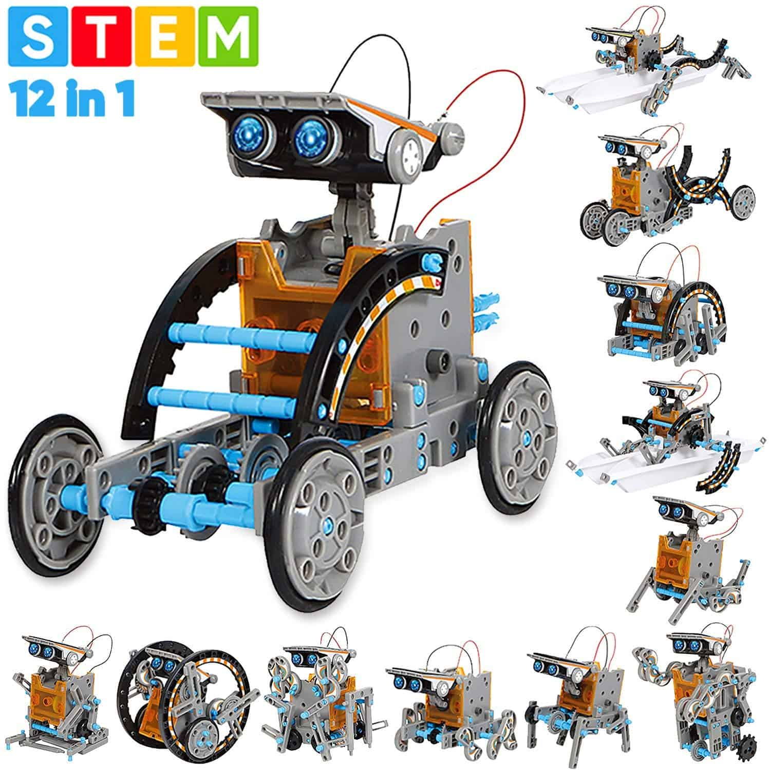 Sillbird STEM 12-in-1 Education Solar Robot Toys