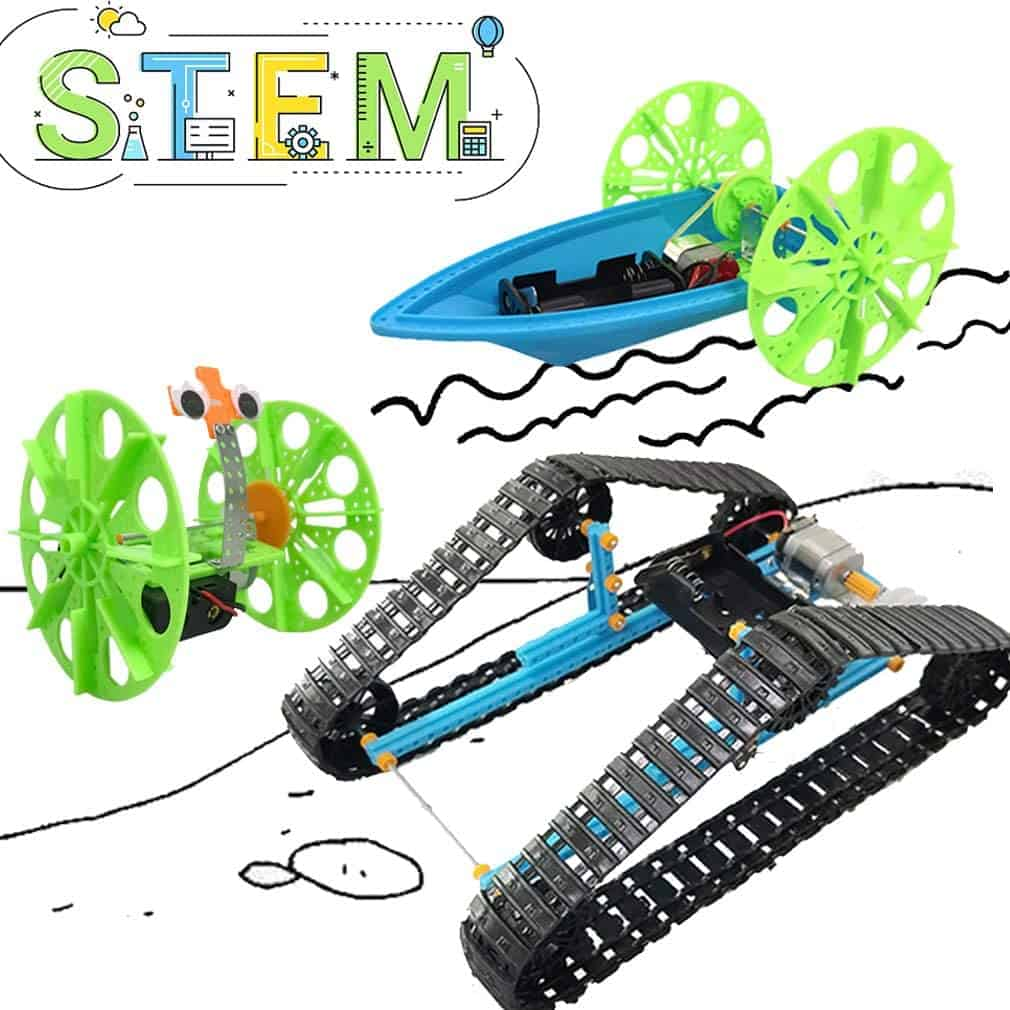 UNGLINGA STEM Toys Electric Motor Robotic Science Kit for Kids