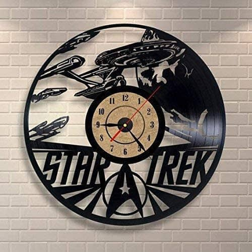 KL Star Trek Vinyl Record Wall Clock
