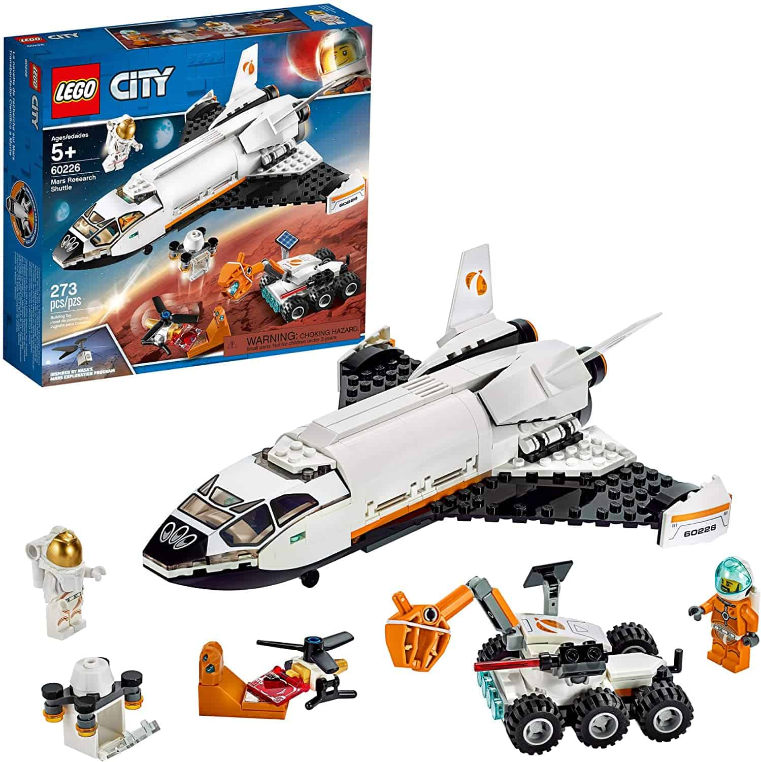 LEGO City Space Mars Research Shuttle 60226 Space Shuttle Toy Building Kit