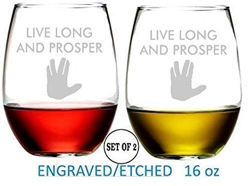 Star Trek Inspired Stemless Wine Glasses