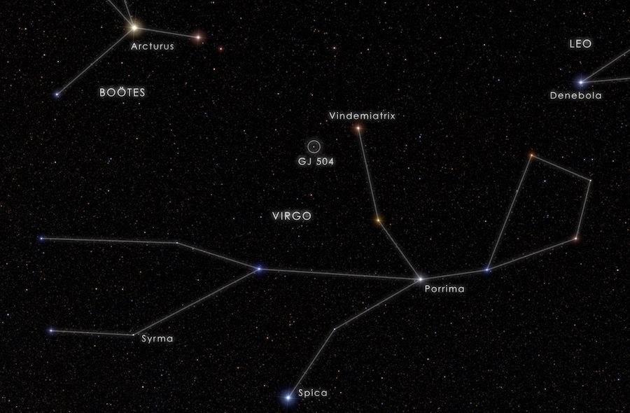 Vindemitrix Epsilon Virginis Location