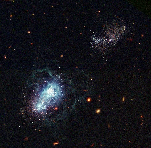 Hubble infant galaxy