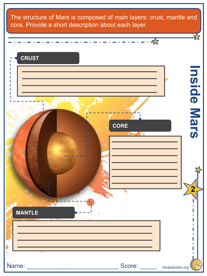 Mars Worksheets (1)