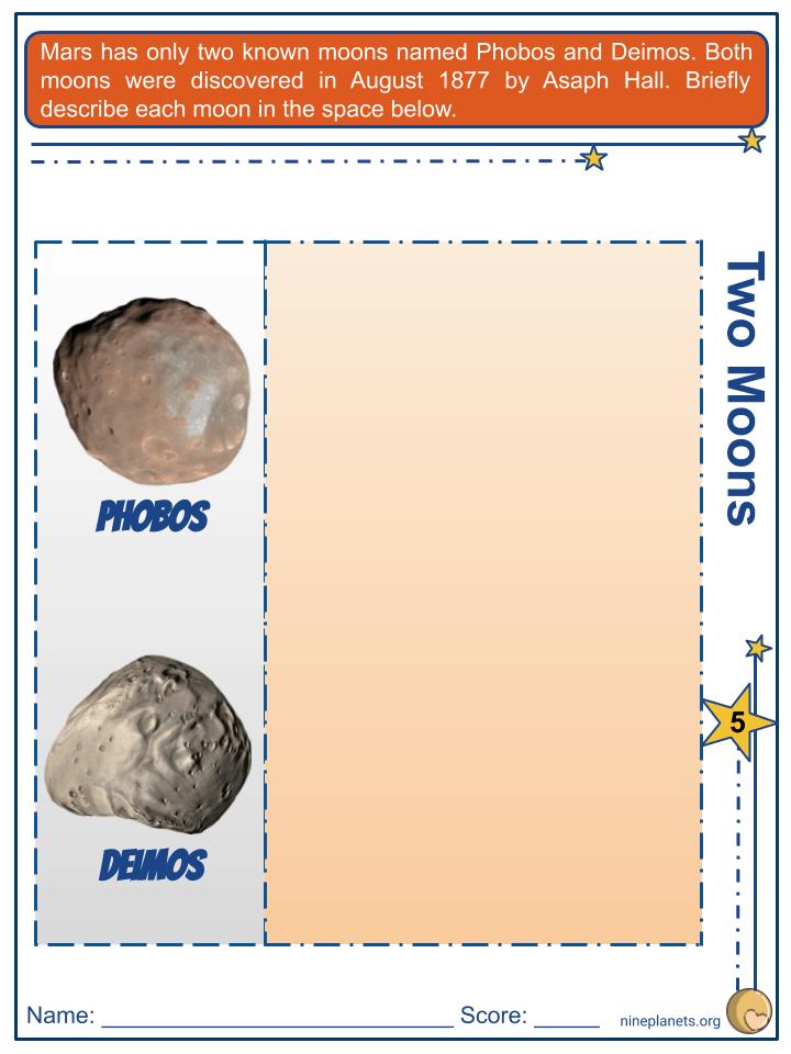 Mars Worksheets (2)