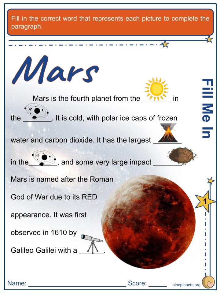 Mars Worksheets