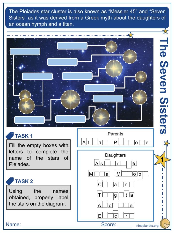Pleiades Worksheets (3)