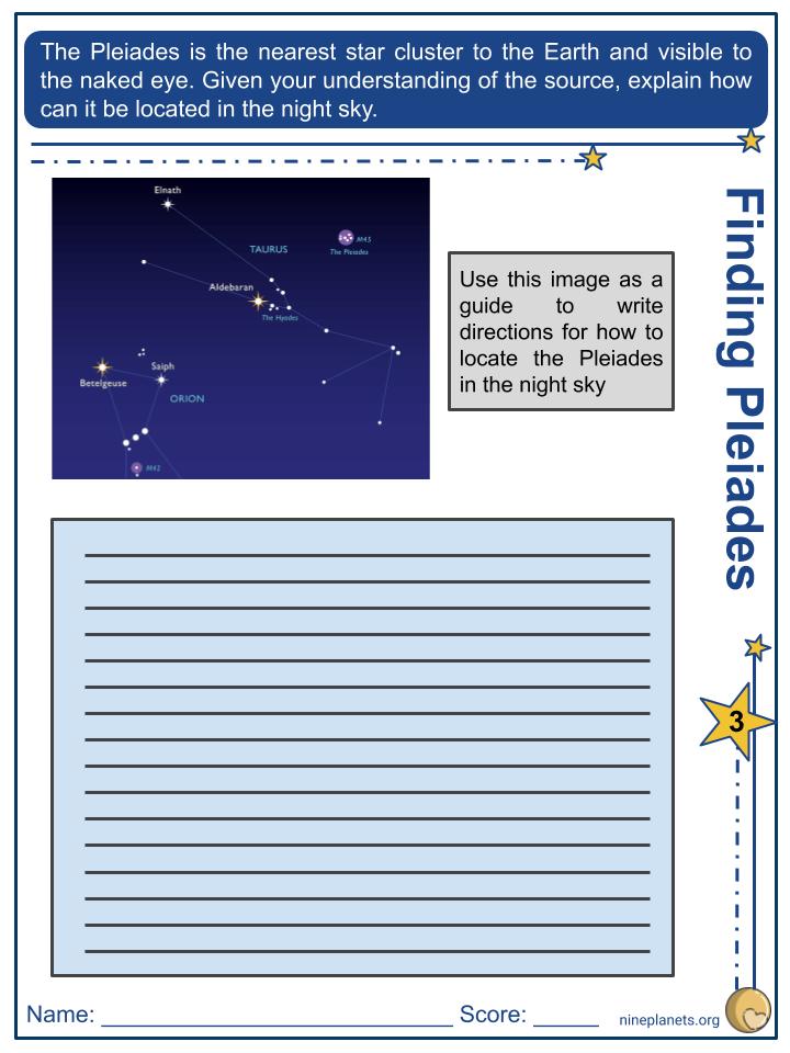 Pleiades Worksheets (5)
