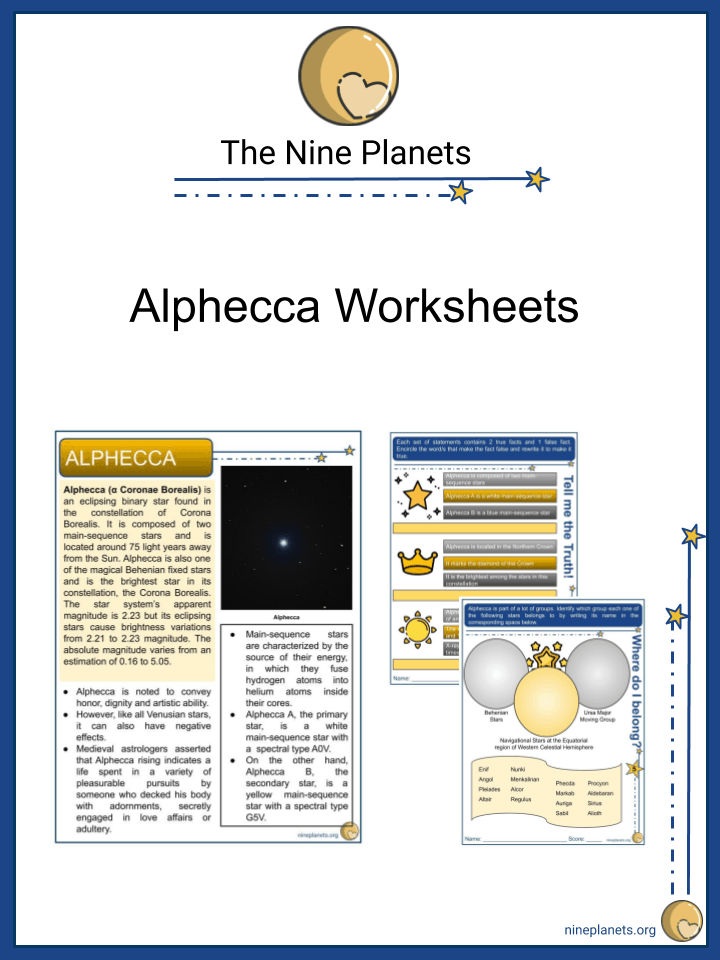 Sample of Alphecca Worksheets