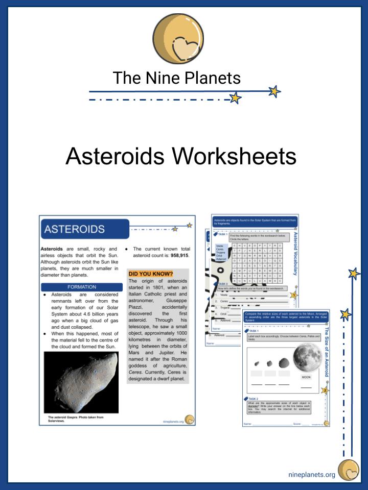 Asteroids Worksheet