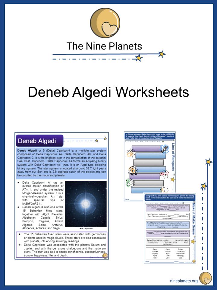 Sample of Deneb Algedi Worksheets