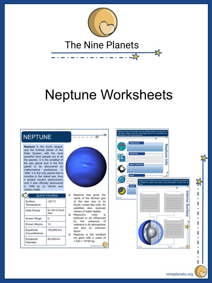 Neptune Worksheets
