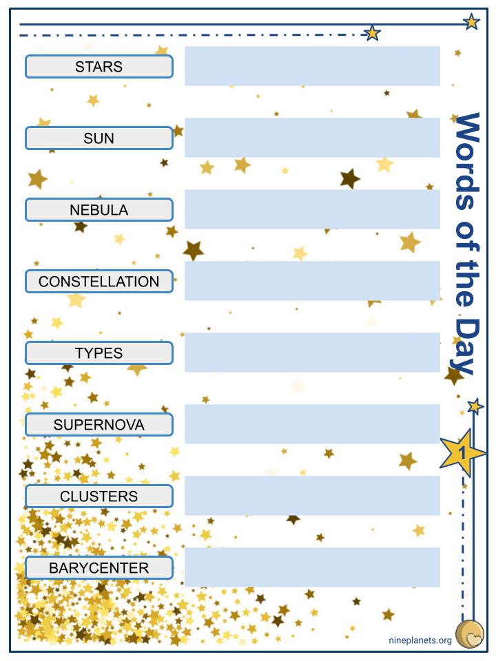 Type of Stars Worksheets (4)