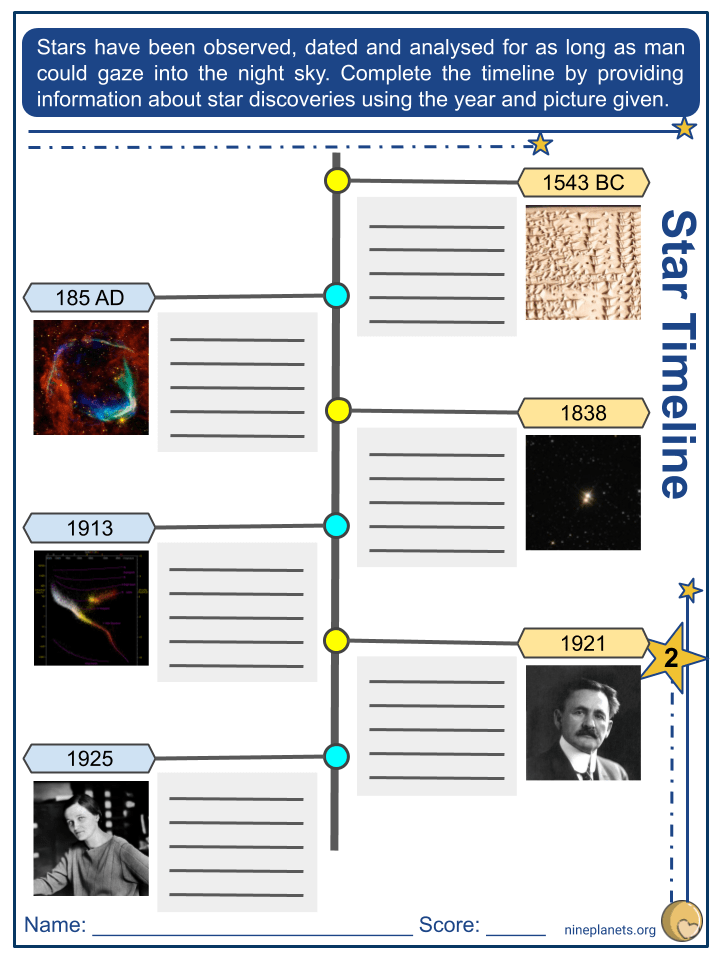 Type of Stars Worksheets (5)