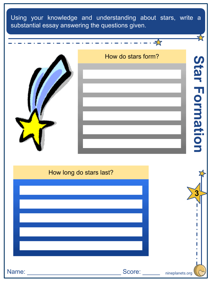 Type of Stars Worksheets (6)