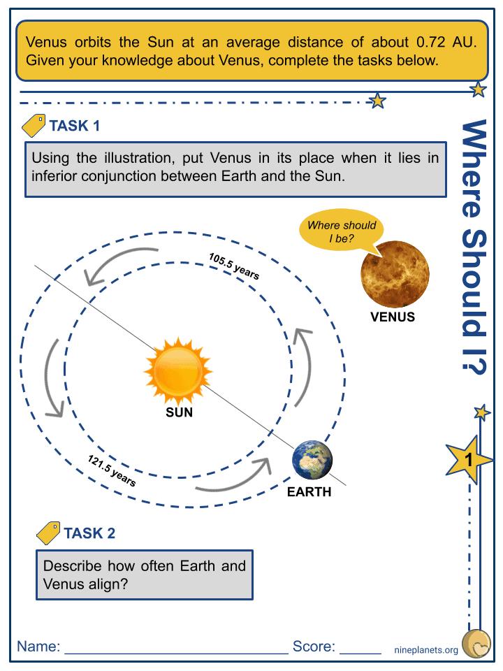 Venus Worksheets (3)