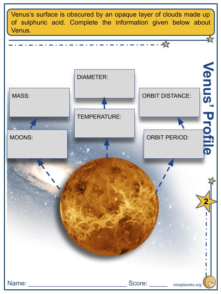 Venus Worksheets (5)