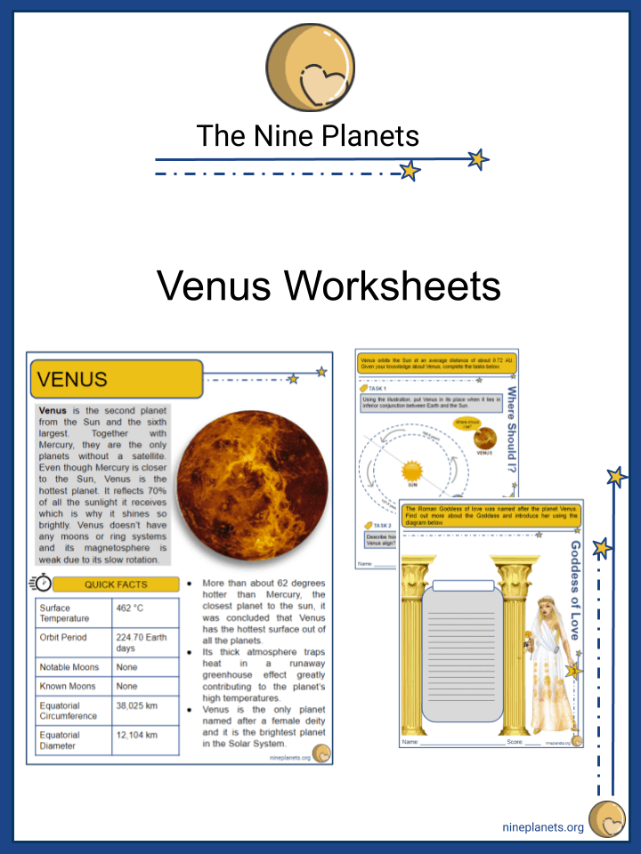 Venus Worksheets