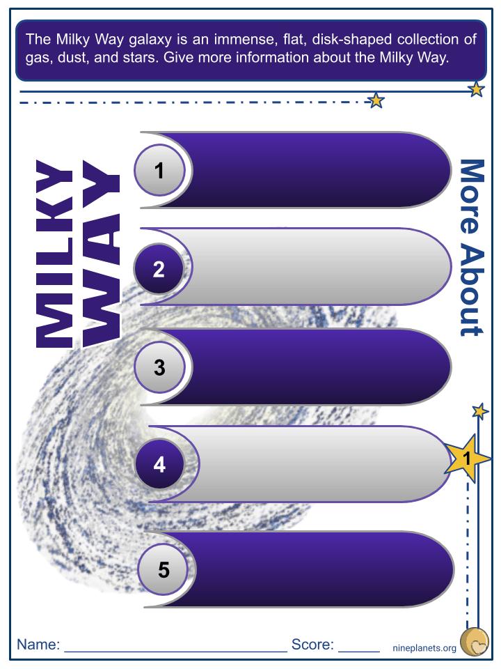 Milky Way Worksheets (4)