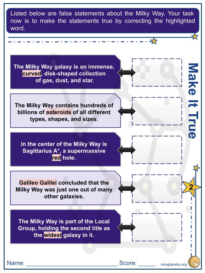 Milky Way Worksheets (5)
