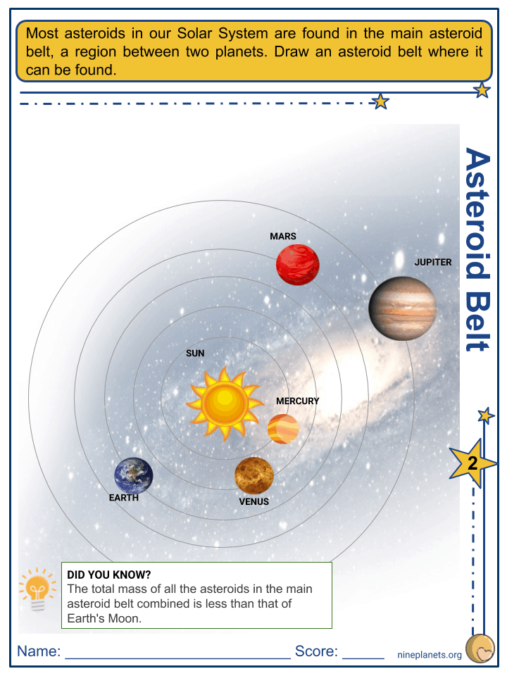 Near-Earth Asteroid Worksheets (2)