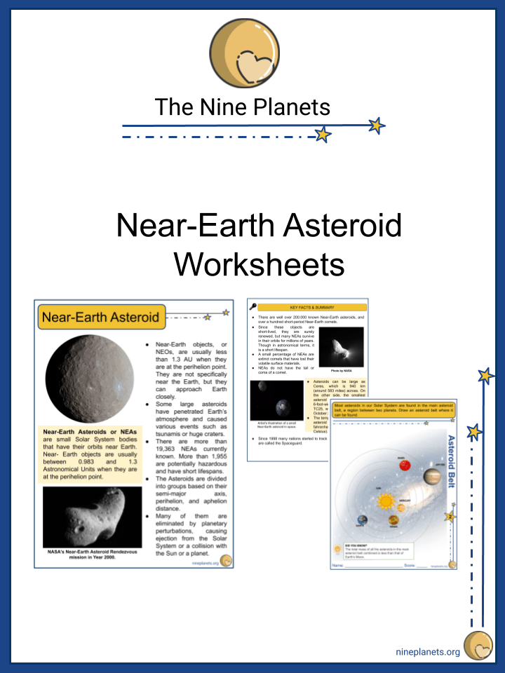 Near-Earth Asteroid Worksheets (3)