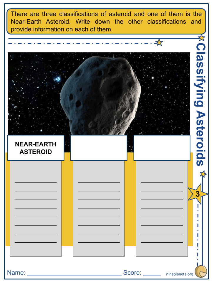 Near-Earth Asteroid Worksheets (5)