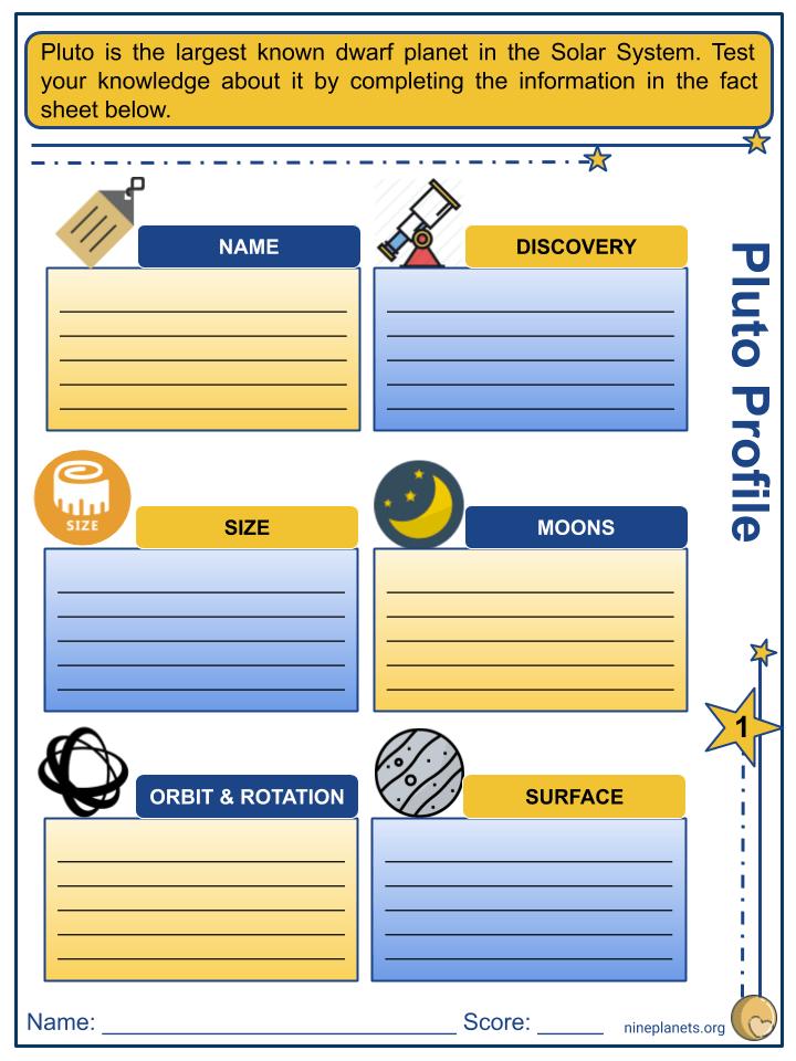 Pluto Worksheets (2)