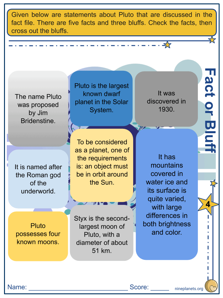 Sample of Pluto Worksheets (1)
