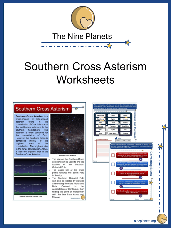 Southern Cross Worksheets