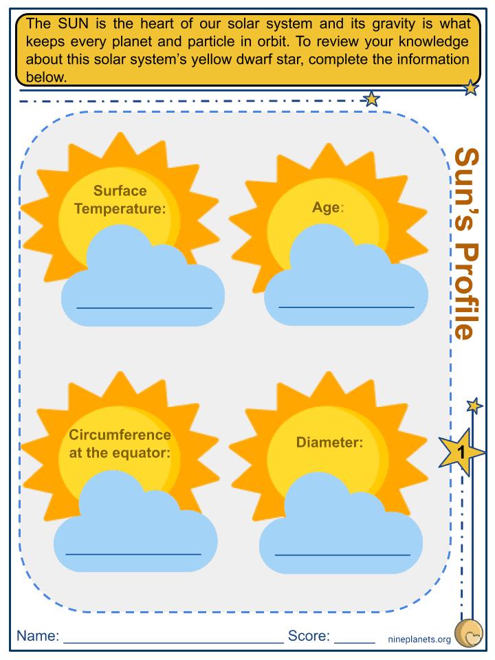 Sun Worksheets (2)