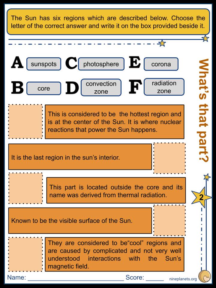 Sun Worksheets (3)