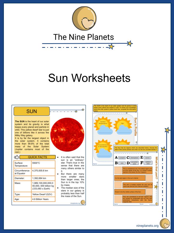 Sun Worksheets