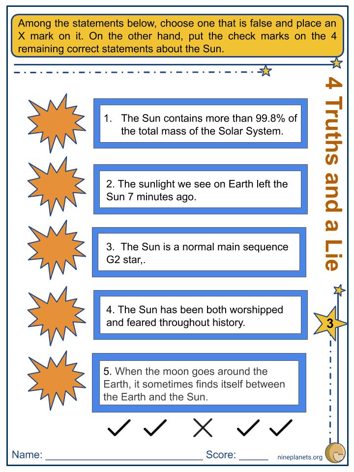 Sun Worksheets (5)