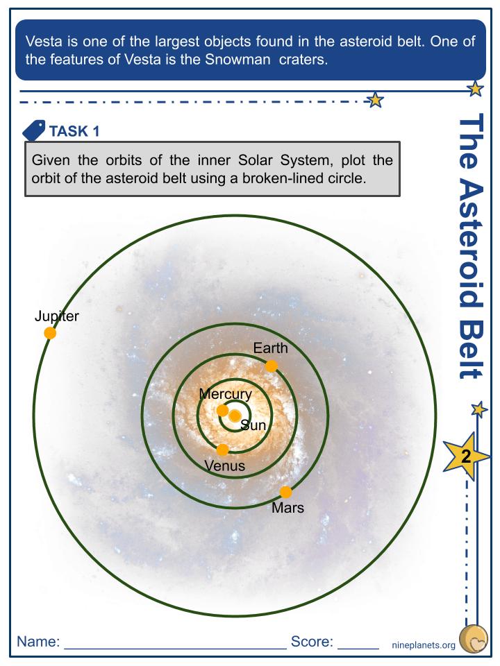 Vesta (Asteroid) Worksheets (2)