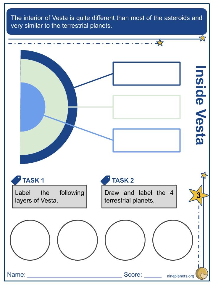Vesta (Asteroid) Worksheets (4)