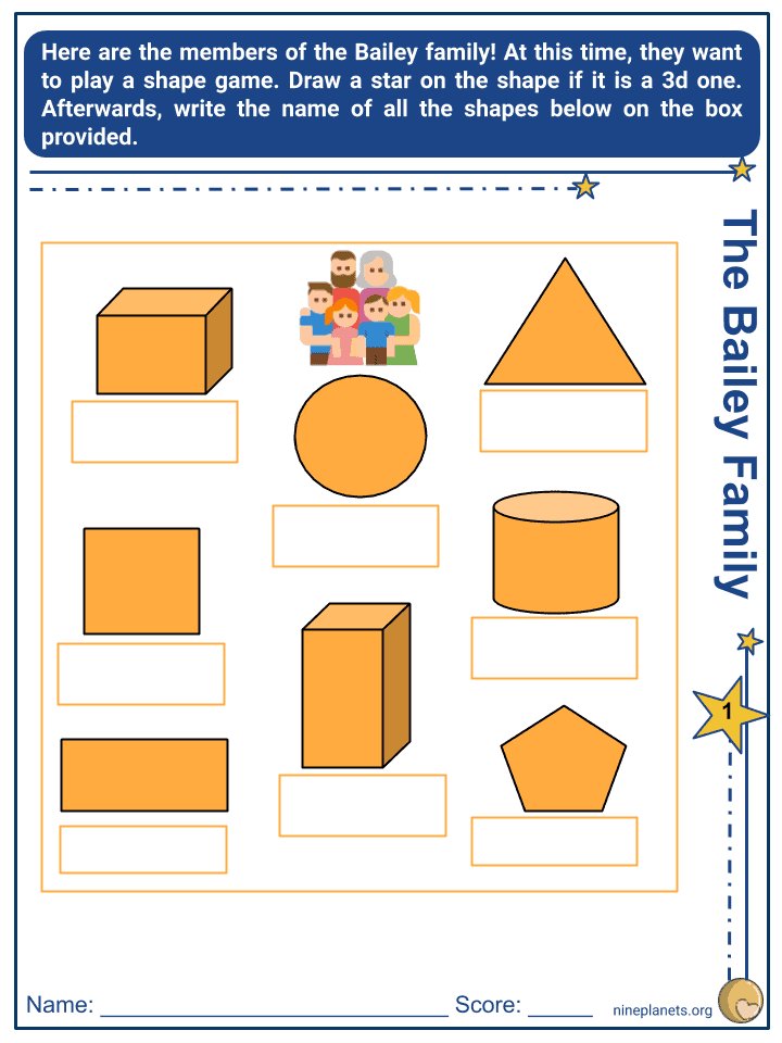 2-D and 3-D Shapes Worksheets (3)