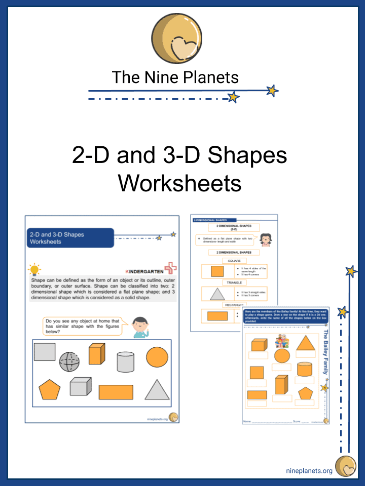 2-D and 3-D Shapes Worksheets