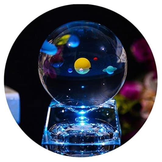 3D Crystal Ball with Solar System